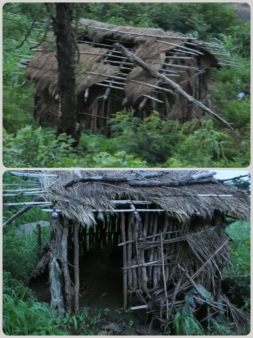 Abandoned huts enroute Mahendragiri