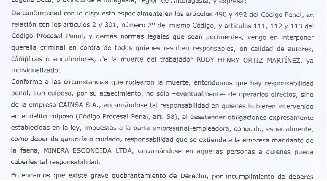 Rudy Ortiz Martínez: Querella por su muerte descubre ambiente laboral interno.
