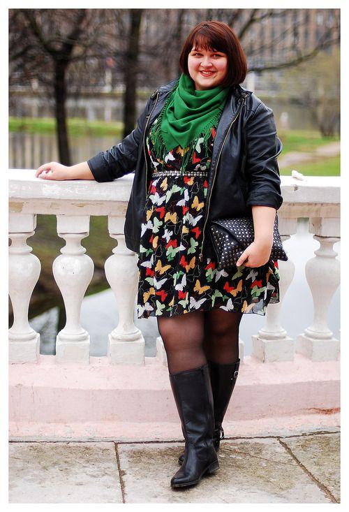 Cómo combinar botas y vestidos siendo gordita