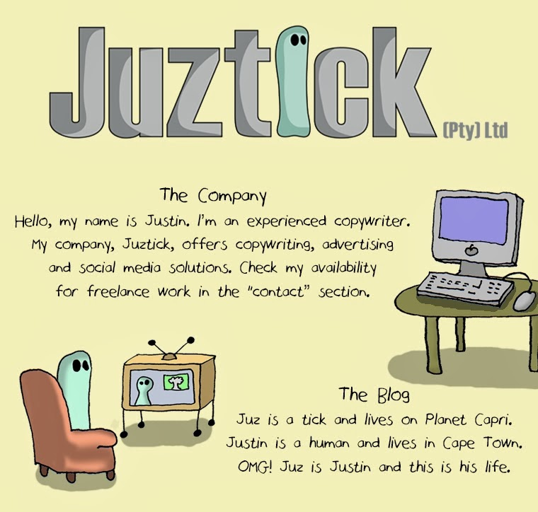Juztick (Pty) Ltd offers copywriting, advertising and social media solutions