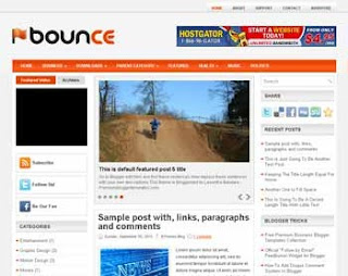 Bounce Blogger Template