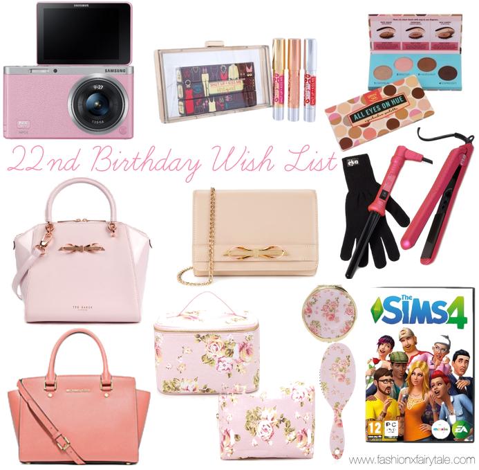 22nd Birthday Wish List