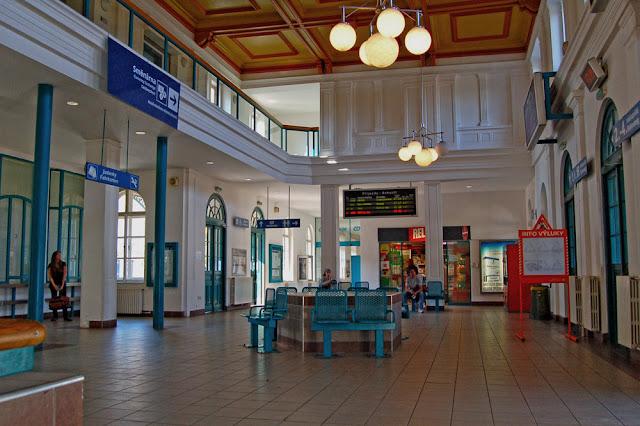 Города Чехии. Дечин. Железнодорожный вокзал.