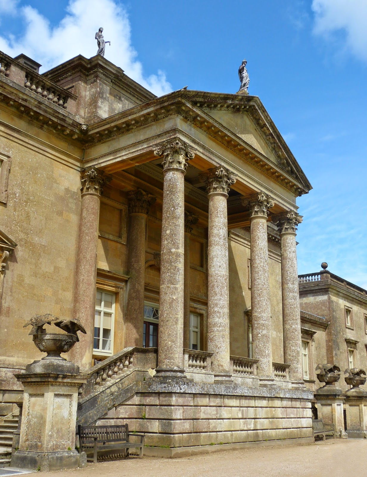 The front of the Palladian mansion at Stourhead