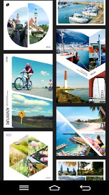 La aplicación gratis Moldiv tiene varias plantillas de tipo revista.