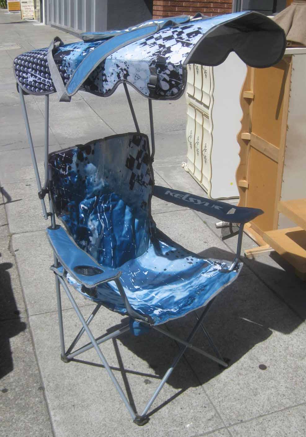 UHURU FURNITURE & COLLECTIBLES SOLD Pair of Fold Up Chairs with Canopy