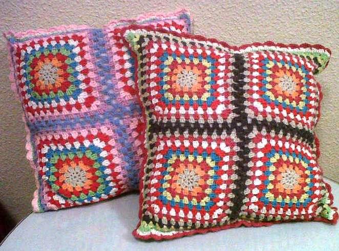 Cojines de crochet con manos - Cojin de crochet ...