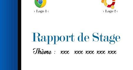 Page de garde pour rapport de stage psd ressources - Page de garde rapport de stage open office ...