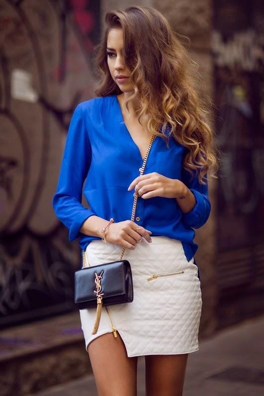 Frühling Chic mit Kobaltblau