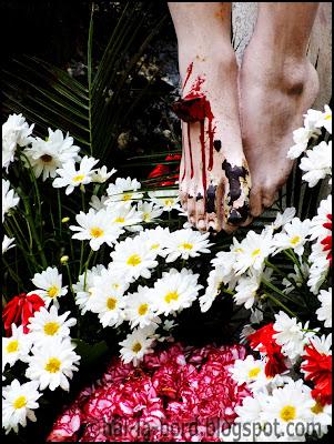 detaliu crucifix biserica romano catolica baile herculane
