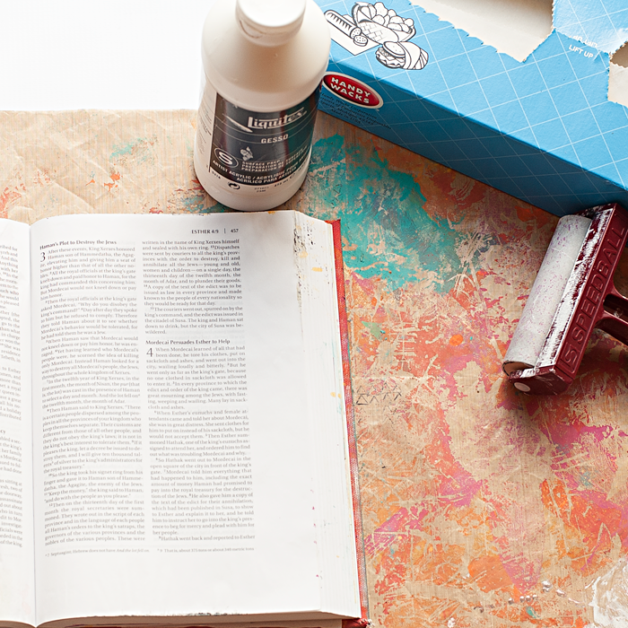 Heather Greenwood Designs | best way to add gesso to super thin paper used in Bibles