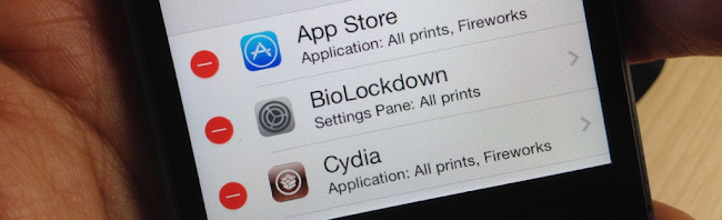 BioLockdown Touch ID Tweak