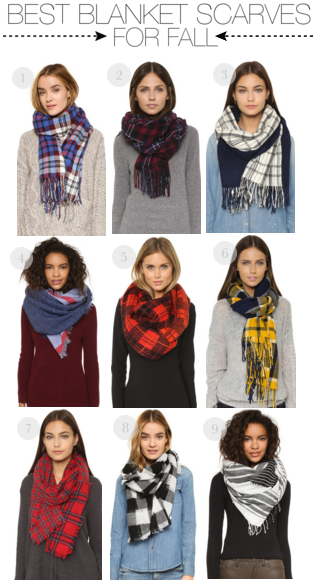 best blanket scarves for fall