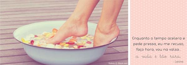 escalda pés antiestresse