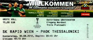 Sk Rapid Wien-Paok Fc
