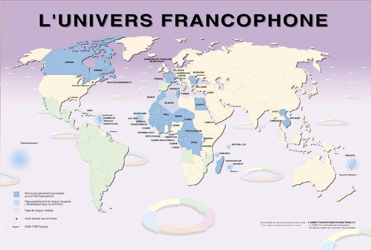 Connu L'ECHO PARISIEN: Canada+USA = 9+2 millions de francophones NI29
