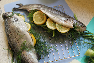 Fresh Start Cooking: Grilling Trout (whole fish version)