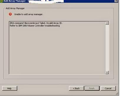 VMware SRM and IBM Array