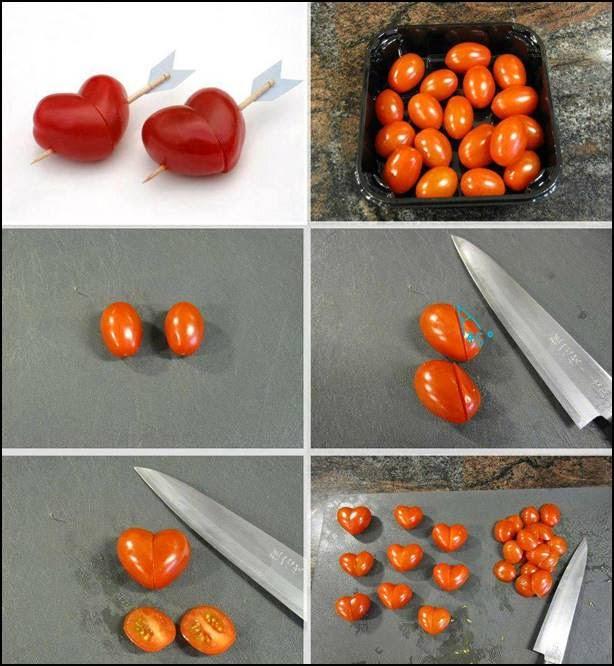 coração com tomate