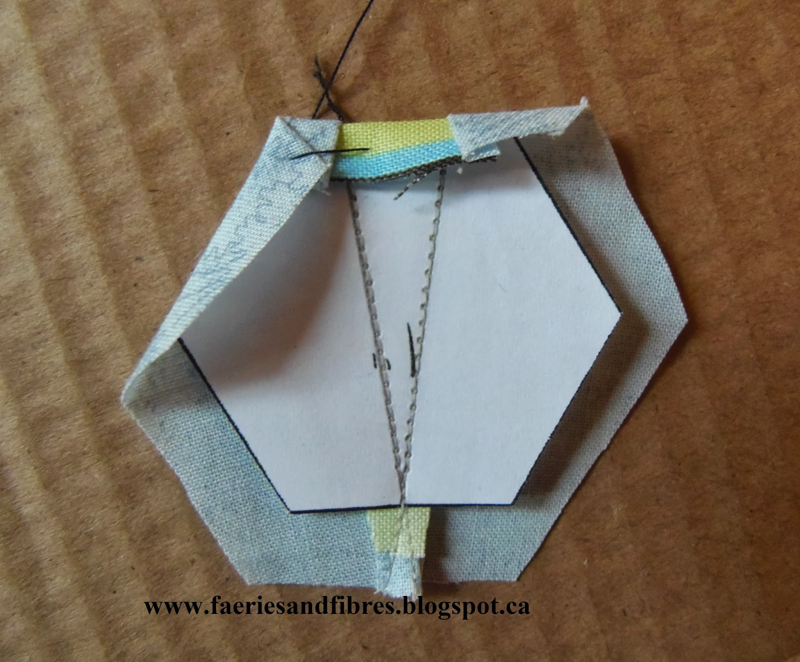 Faeries and fibres tutorial making a hexagon star my way part 2