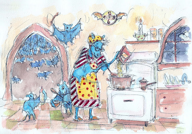 "Illustration for kid's book ""Batty The Bango Playinh Bat"""