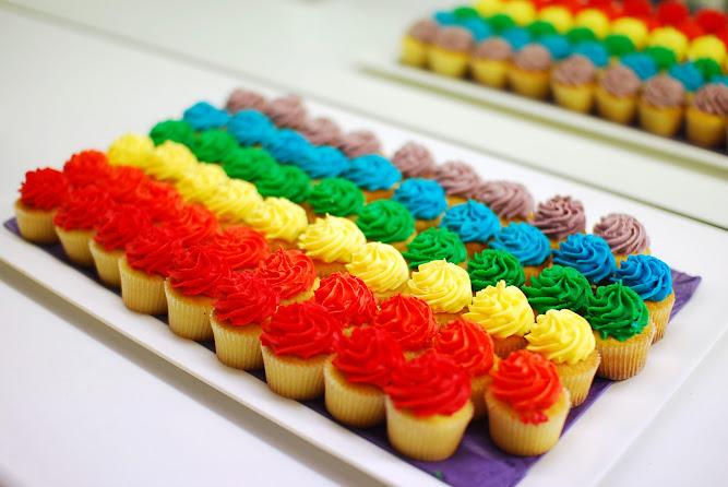 Australasian College Rainbow Cupcakes Mardi Gras