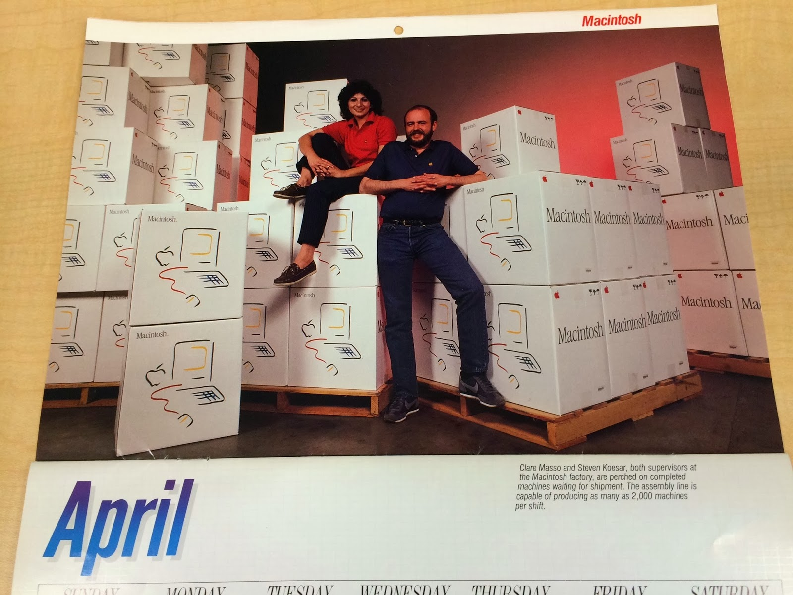 Witless to history: When the Macintosh had a pinup calendar