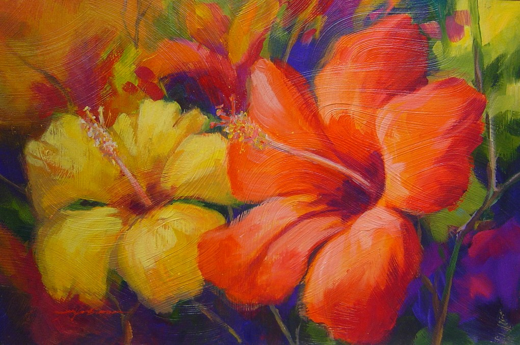 Free download flower paintings for Flower paintings on canvas