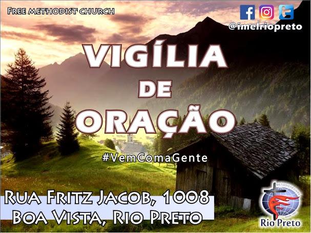 VIGÍLIA DE ORAÇÃO - 21/10/2017 às 20h