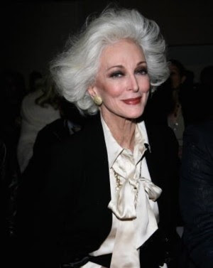 Model Carmen Dell´Orefice aged 82