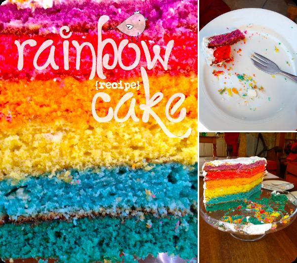 Rainbow Cake With Crystal White Icing Recipe Pure Sweet Joy