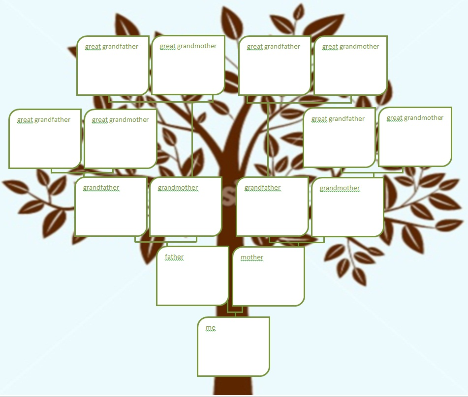 fill in the blank family tree template - fill in family tree design templates print phone tree