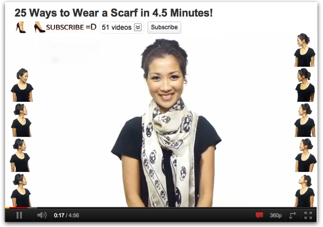 How to tie a scarf video