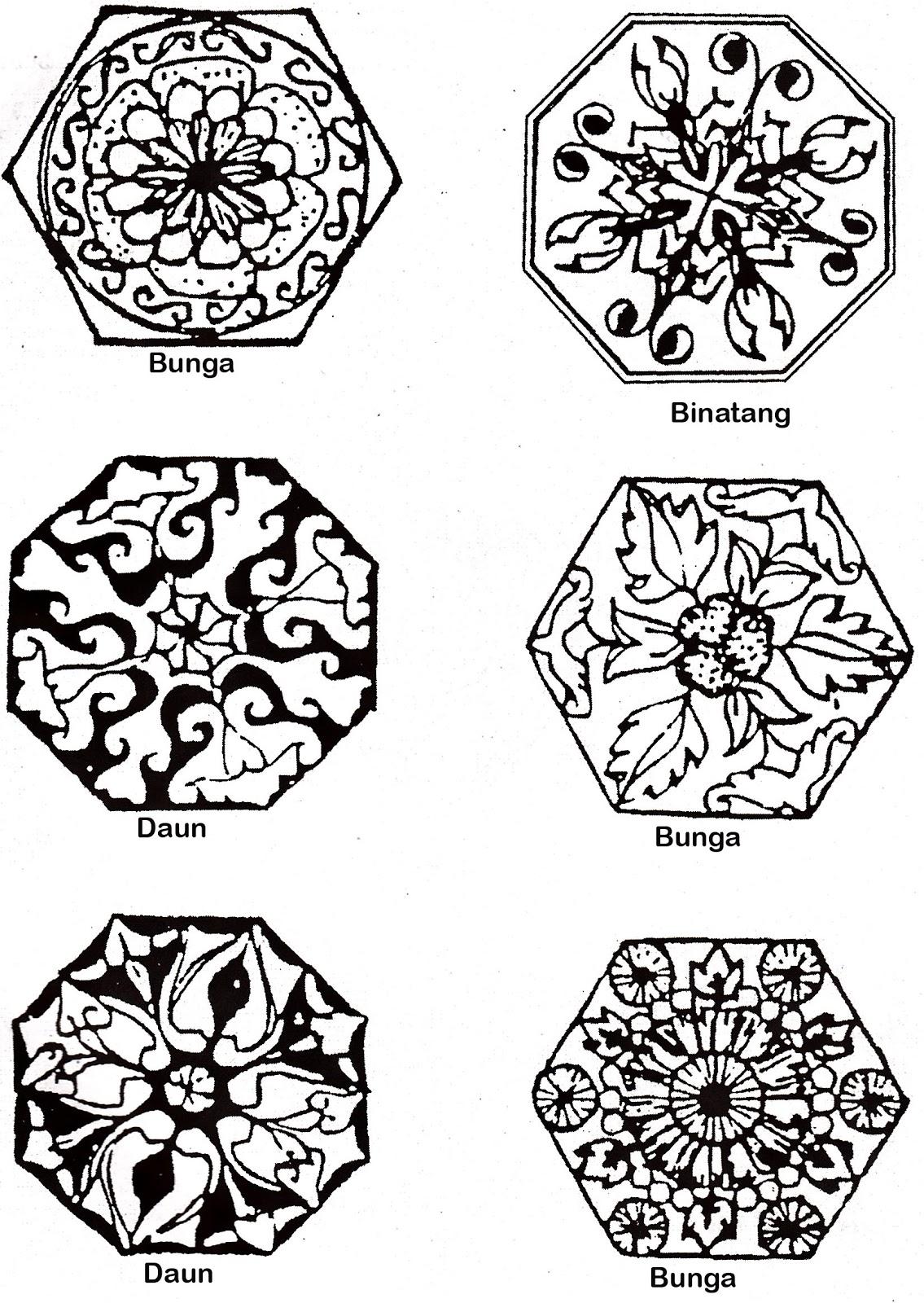 Gambar motif-motif naturalis (ukir)