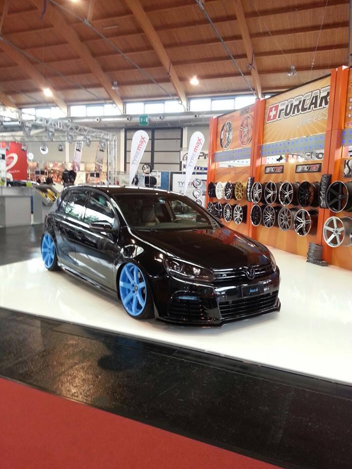 modified cars volkswagen black golf mk