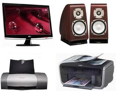 output device Monitor, Speaker, printer