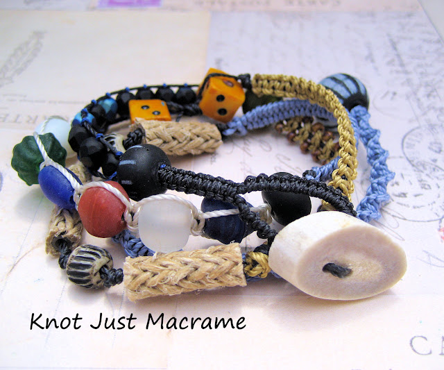 Macrame wrap bracelet by Knot Just Macrame