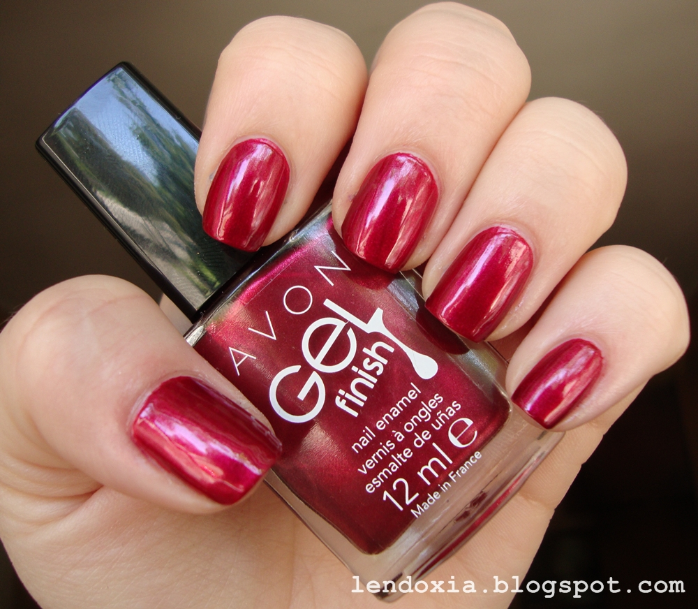 avon red velvet red nail polish
