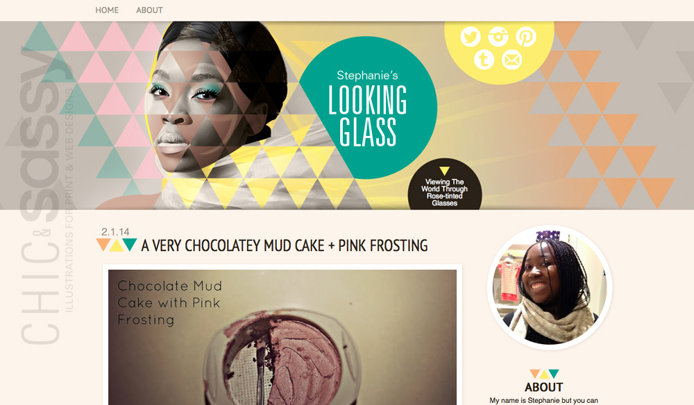 blogger layout template about self expression, mirrors, chic