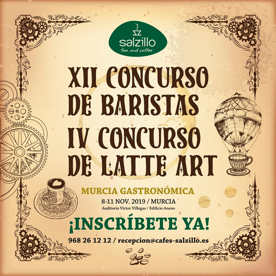 XII Concurso de Baristas y IV Concurso de Latte Art de Salzillo Tea and Coffee.