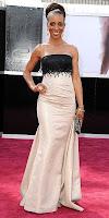 Шаун Робинсън в рокля без презрамки на Оскари 2013