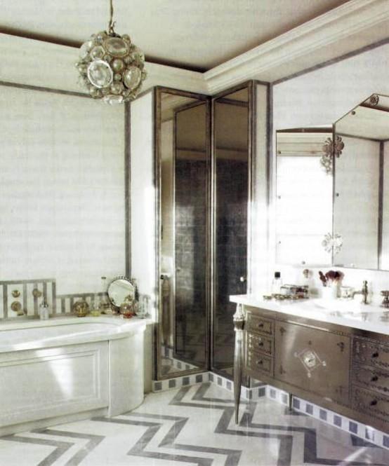 Baños Estilo Art Deco:Diseño de baños Art Deco que inspiran a relajarte