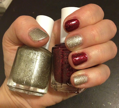 Essie, Essie nail polish, Essie manicure, Essie Holiday 2012 Collection, Essie Beyond Cozy, Essie Leading Lady, nail, nails, nail polish, polish, lacquer, nail lacquer, mani, manicure