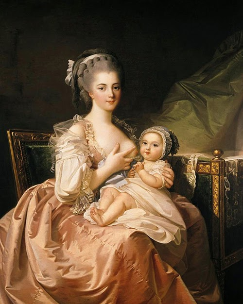 reading treasure wet nurses and breastfeeding in the th th  the young mother by jean laurent mosnier 18th century
