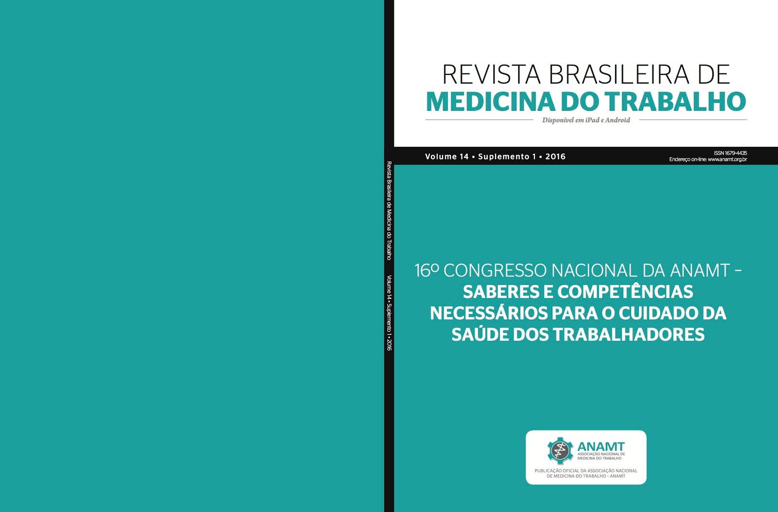 Revista Brasileira de Medicina do Trabalho Volume 14 Suplemento 1