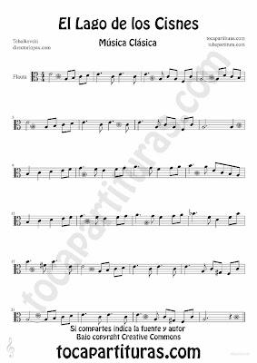Tubepartitura El Lago de los Cisnes de Piotr IIich Tchaikovski Partitura para Flauta Música Clásica