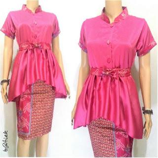 Model baju batik dress bahan satin