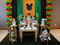 Decoração festa infantil Porto Alegre - Mickey Safári