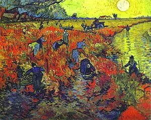 "Picture of ""The Red Vineyard"" by Vincent van Gogh, 1888"