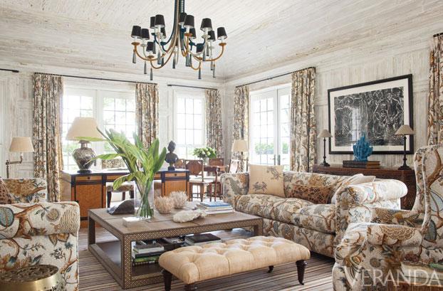 Hydrangea hill cottage chintz for Veranda living rooms
